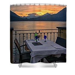 Sunset Dining Shower Curtain