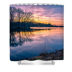 Sunset-dorothy Pond Shower Curtain