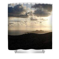 Sunset Dragon Island Shower Curtain