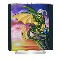 Sunset Dragon Shower Curtain