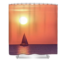 Sunset Dreams Shower Curtain by Racheal Christian