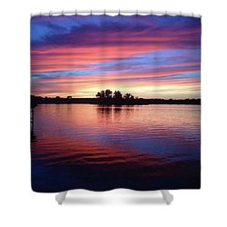 Sunset Dreams Shower Curtain by Rebecca Wood