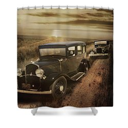 Sunset Drive Shower Curtain
