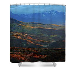 Sunset During Autumn Below The San Juan Mountains In Colorado Shower Curtain