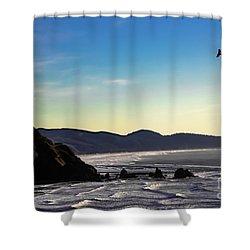 Sunset Eagle Shower Curtain