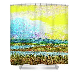 Sunset Ecstasy Shower Curtain by Joel Bruce Wallach
