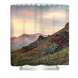 Shower Curtain featuring the photograph Sunset by Elaine Malott