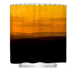 Shower Curtain featuring the photograph Sunset by Evgeny Vasenev