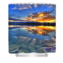 Sunset Explosion Shower Curtain