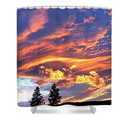 Sunset Extravaganza Shower Curtain by Will Borden