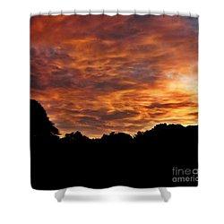 Sunset Fire Shower Curtain by Christy Ricafrente