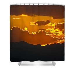 Shower Curtain featuring the photograph Sunset Fire by Colleen Coccia