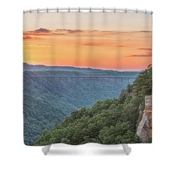 Sunset Flare Shower Curtain
