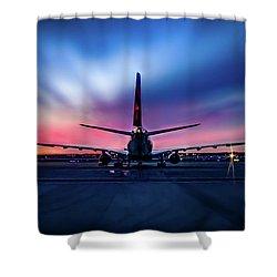 Sunset Flight Shower Curtain