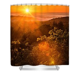Sunset Fog Over The Pacific #2 Shower Curtain