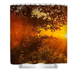 Sunset Fog Over The Pacific #3 Shower Curtain