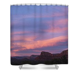 Sunset From Bell Rock Trail Shower Curtain