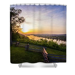 Sunset From Boreman Park Shower Curtain by Jonny D