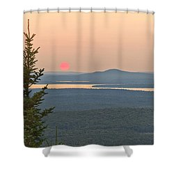 Sunset From Cadillac Mountain Shower Curtain