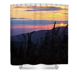 Sunset From Caps Ridge, Mount Jefferson Shower Curtain