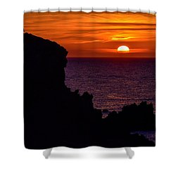 Sunset From Costa Paradiso Shower Curtain