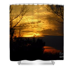 Sunset From Farm Shower Curtain