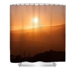 Sunset From Marine Headlands San Francisco Shower Curtain