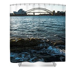 Sunset From Mrs Macquarie's Point Shower Curtain