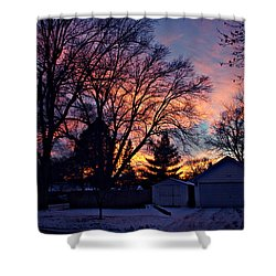Sunset From My View Shower Curtain by Kathy M Krause