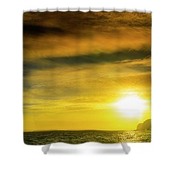 Sunset From The Beach Shower Curtain