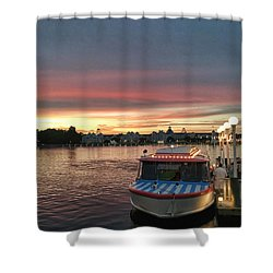 Sunset From The Boardwalk Shower Curtain by John Black