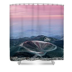 Sunset From The Top Of The Etna Shower Curtain