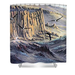 Sunset Gathering Shower Curtain