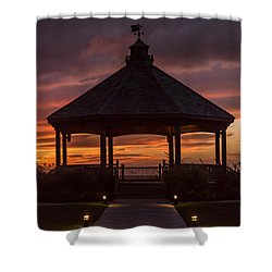 Sunset Gazebo Lavallette New Jersey Shower Curtain