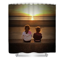Sunset Sisters Shower Curtain