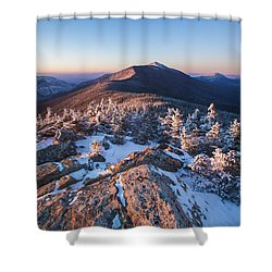Sunset Glow On Franconia Ridge Shower Curtain
