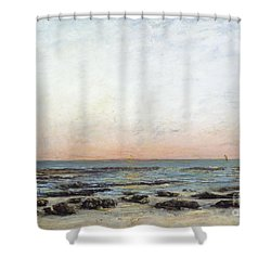 Sunset Shower Curtain by Gustave Courbet