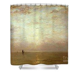 Sunset Shower Curtain by Hendrik William Mesdag