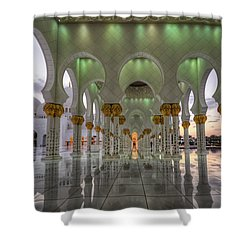 Shower Curtain featuring the photograph Sunset Hindu Temple by John Swartz