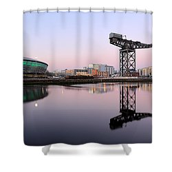 Shower Curtain featuring the photograph Sunset Hues by Grant Glendinning