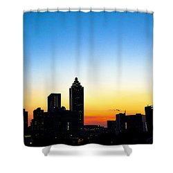 Sunset In Atlaanta Shower Curtain