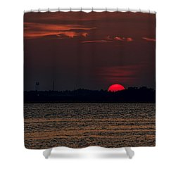 Sunset In Biloxi 3 Shower Curtain