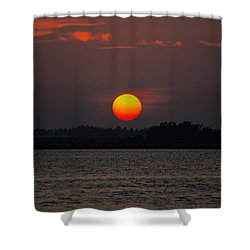Sunset In Biloxi Shower Curtain