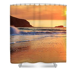 Shower Curtain featuring the photograph Sunset In Brookings by James Eddy