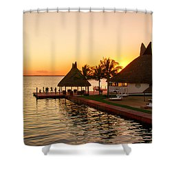 Sunset In Cancun Shower Curtain