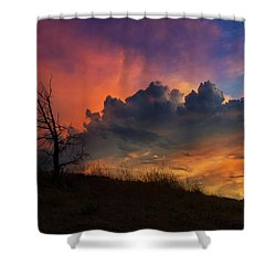 Sunset In Central Oregon Shower Curtain by David Gn