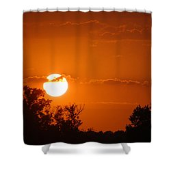 Shower Curtain featuring the photograph Sunset In Charleston by Donna Bentley