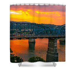 Shower Curtain featuring the photograph Sunset In Chattanooga by Geraldine DeBoer