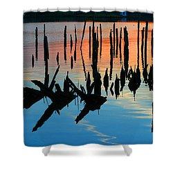 Sunset In Colonial Beach Virginia Shower Curtain