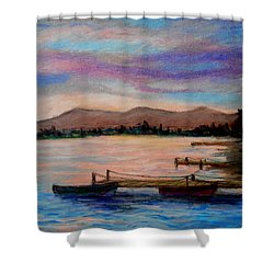 Sunset In Evia Shower Curtain